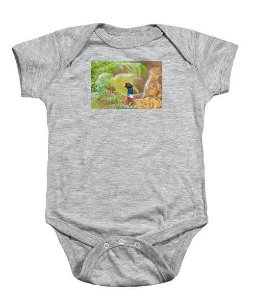 Pheasant Portrait Baby Onesie