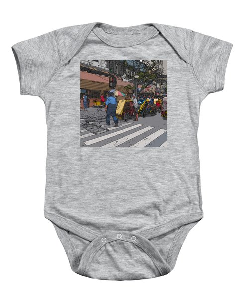 Philippines 906 Crosswalk Baby Onesie