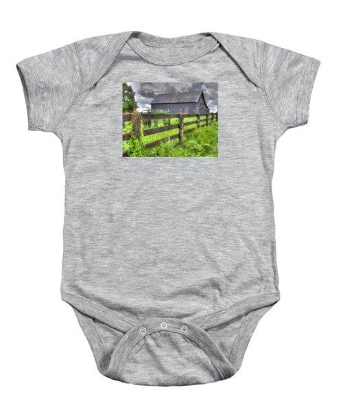 Phillip's Barn #4 Baby Onesie