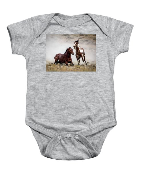 Picasso - Wild Stallion Battle Baby Onesie