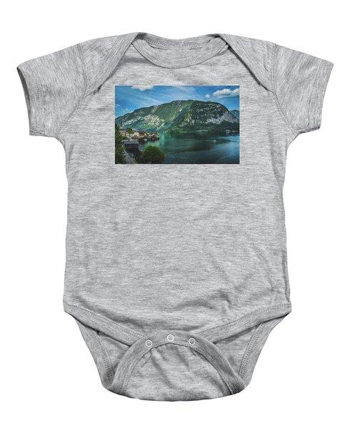 Picturesque Hallstatt Village Baby Onesie