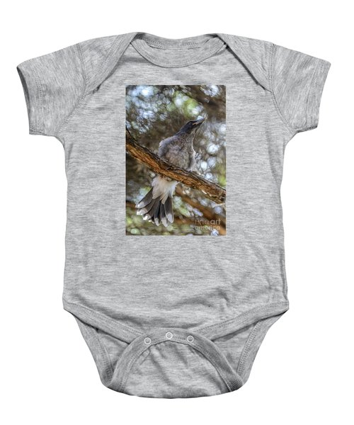 Pied Currawong Chick 1 Baby Onesie