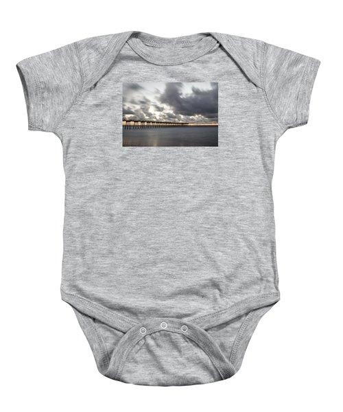 Pier In Misty Waters Baby Onesie