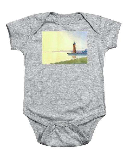 Pierhead Lighthouse, Milwaukee Baby Onesie