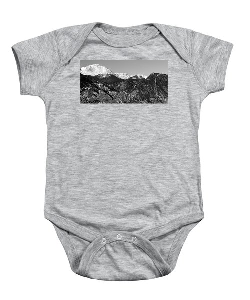 Pikes Peak And Incline 36 By 18 Baby Onesie