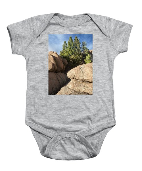 Pines In Granite Baby Onesie