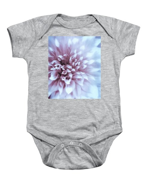 Pink And Blue Dahlia Baby Onesie
