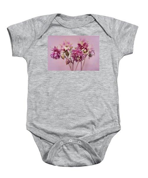 Pink Columbines Baby Onesie