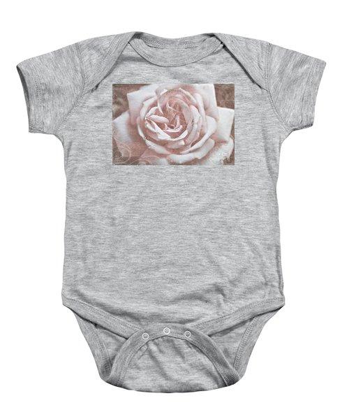 Pink Garden Rose Baby Onesie