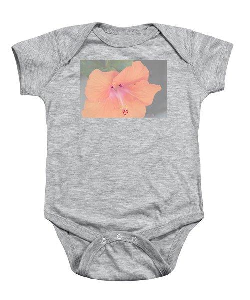 Pink Heavenly Hibiscus Baby Onesie