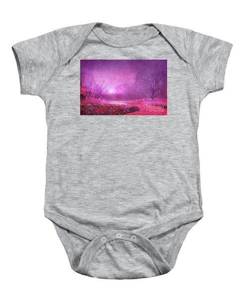 Pink Landscape Baby Onesie