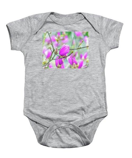 Pink Magnolia  Baby Onesie