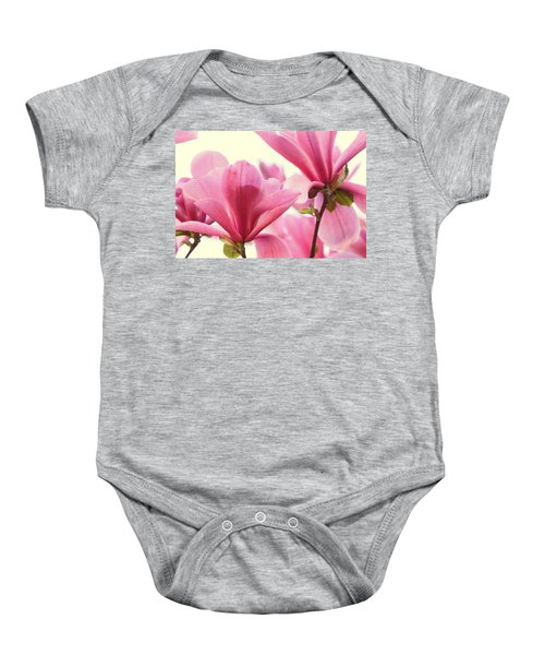 Pink Magnolias Baby Onesie