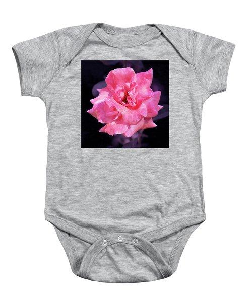 Pink Rose With Violet Baby Onesie
