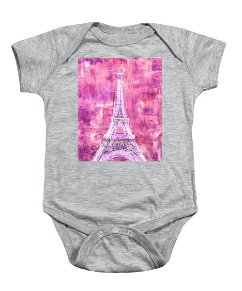 Pink Tower Baby Onesie