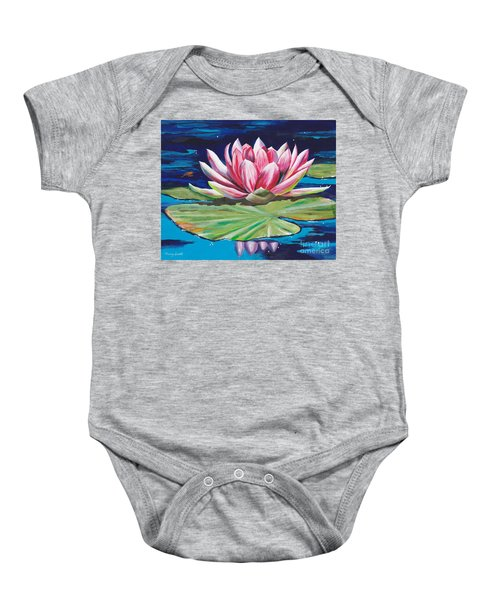 Pink Tranquility Baby Onesie