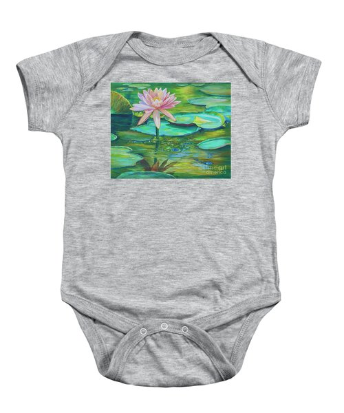 Pink Water Lily Baby Onesie