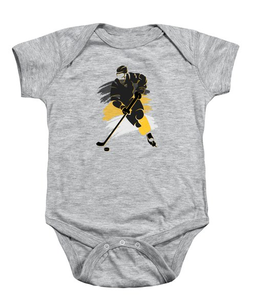 Pittsburgh Penguins Player Shirt Baby Onesie by Joe Hamilton