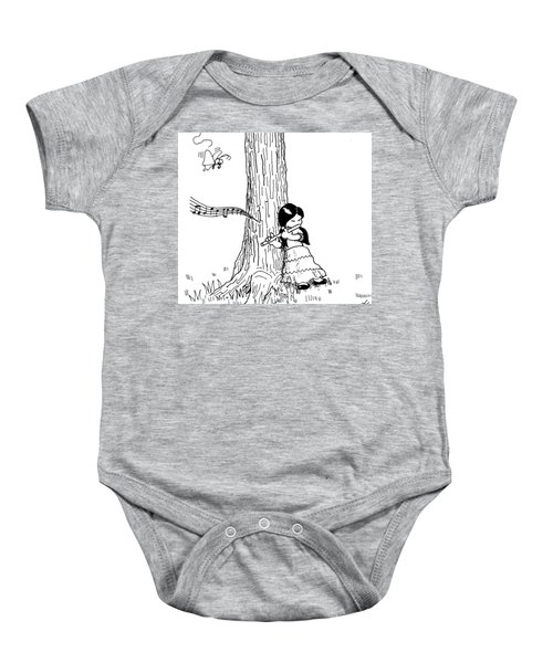 Play The Flute Under The Tree Baby Onesie
