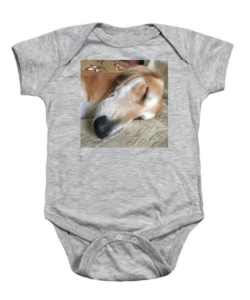 Please Be Quiet. Saluki Baby Onesie