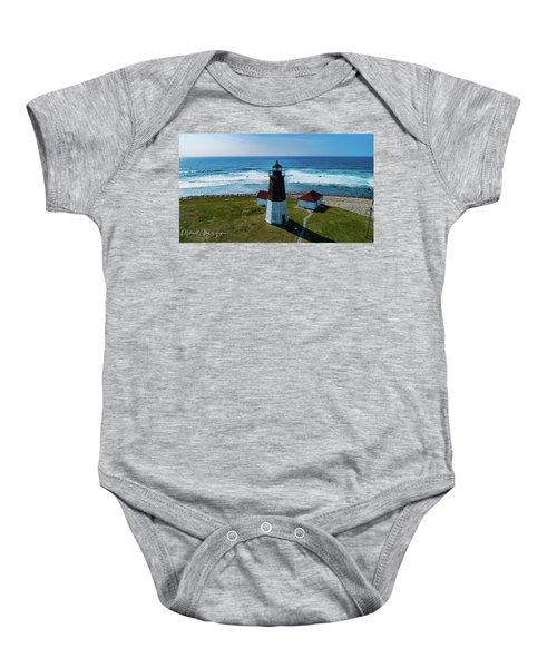 Point Judith Lighthouse Baby Onesie