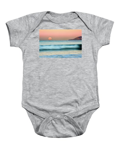 Point Loma Moonset Baby Onesie