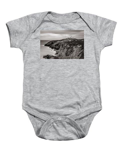 Point Lynas Lighthouse In Llaneilian On Anglesey Baby Onesie
