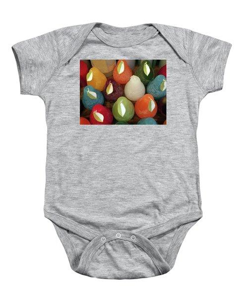 Polychromatic Pears Baby Onesie