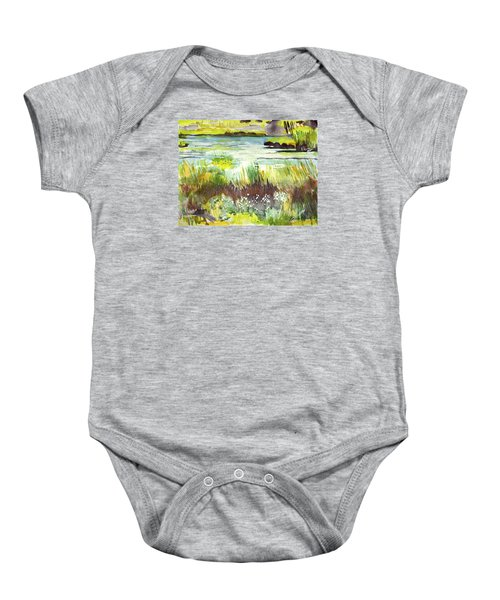 Pond And Plants Baby Onesie