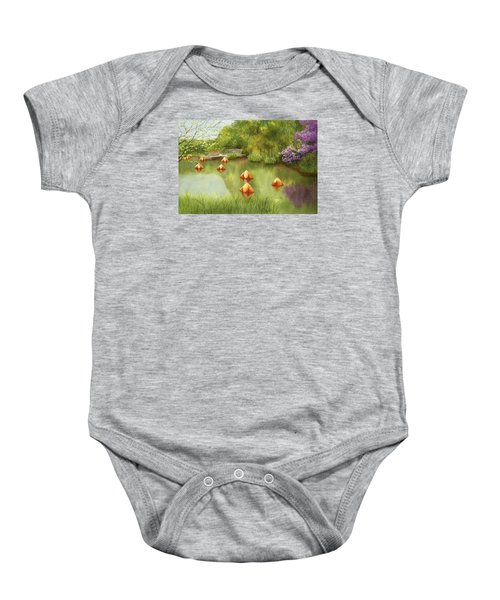 Pond At Olbrich Botanical Garden Baby Onesie