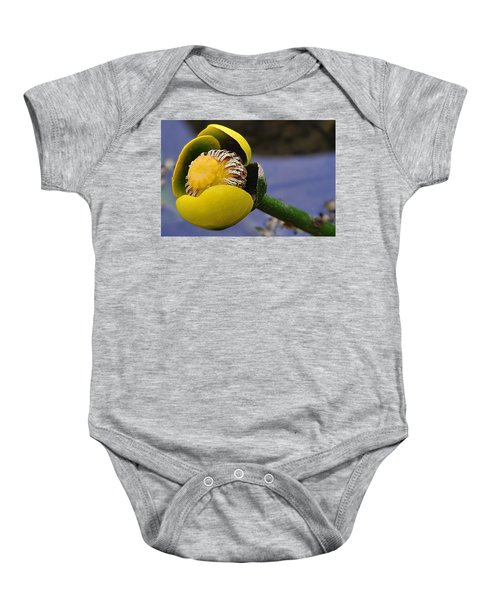 Pond Lily In Bloom Baby Onesie