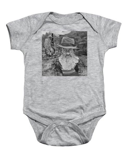 Popcorn Sutton - Black And White - Rocket Fuel Baby Onesie
