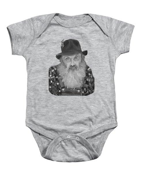 Popcorn Sutton Moonshiner Bust - T-shirt Transparent B And  W Baby Onesie