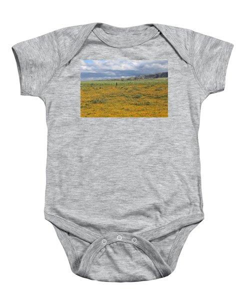 Poppies Field In Antelope Valley Baby Onesie