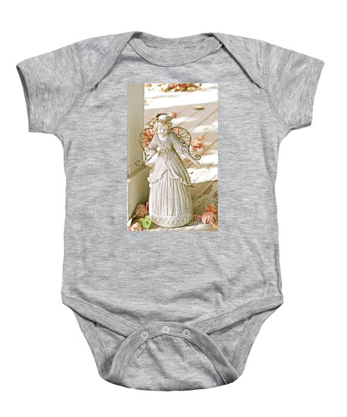 Porch Angel In The Fall Baby Onesie