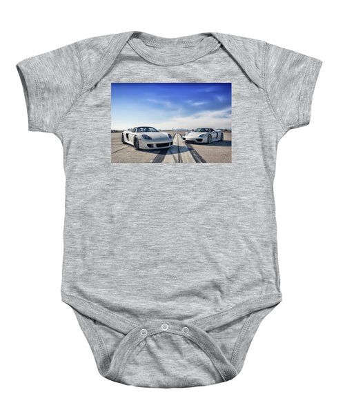 #porsche #carreragt And #918spyder Baby Onesie