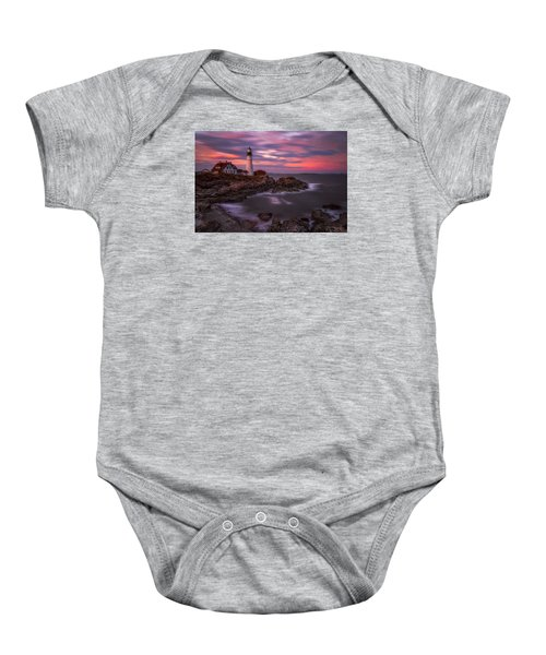 Portland Head Sunset Baby Onesie