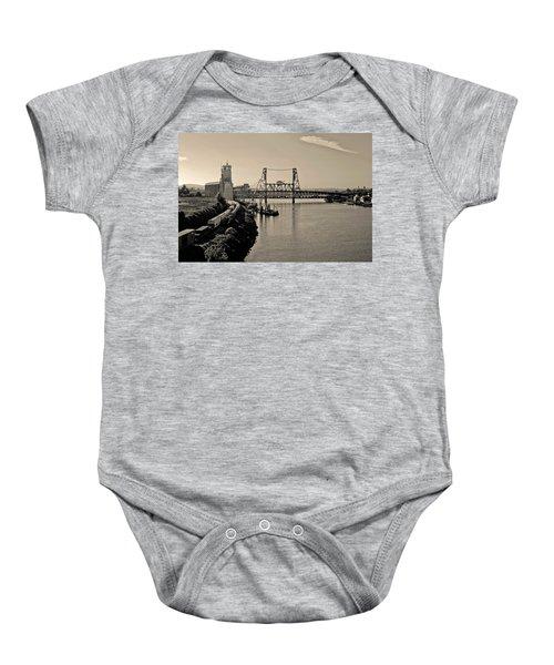 Portland Steel Bridge Baby Onesie