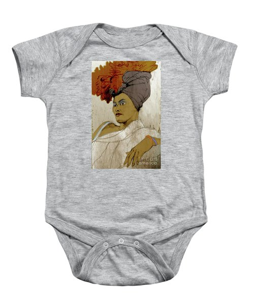 Portrait Of A Caribbean Beauty Baby Onesie