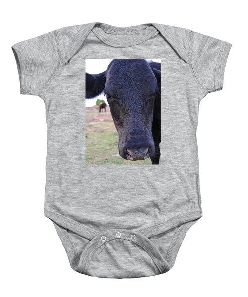Portrait Of A Cow Baby Onesie