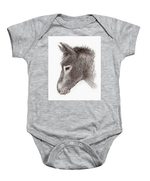 Portrait Of A Mule Baby Onesie