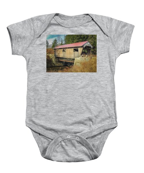 Power House Bridge Baby Onesie