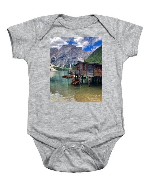 Pragser Wildsee View Baby Onesie