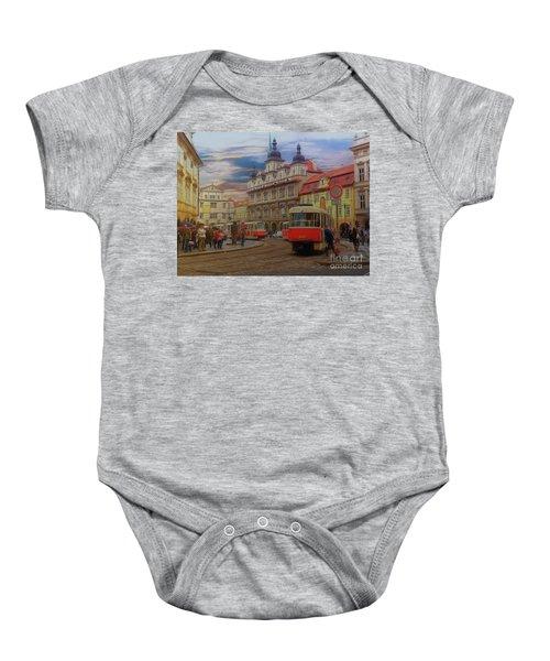 Prague, Old Town, Street Scene Baby Onesie