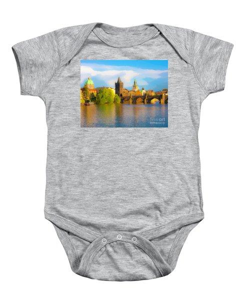 Praha - Prague - Illusions Baby Onesie