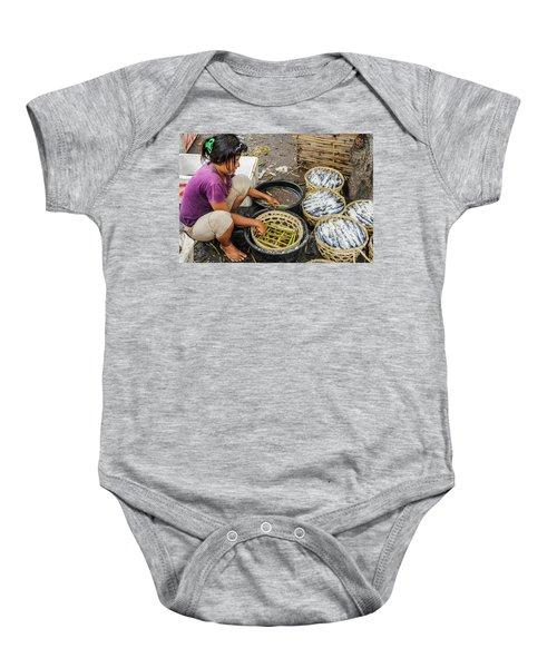 Preparing Pindang Tongkol Baby Onesie by Werner Padarin
