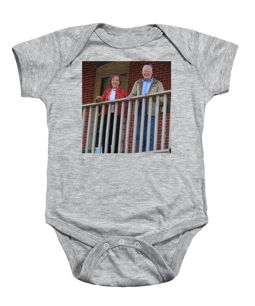 President And Mrs Carter On Plains Inn Balcony Baby Onesie