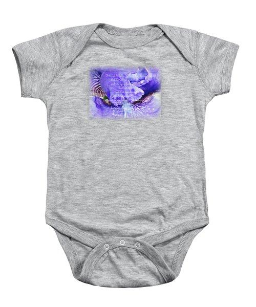 Pretty Purple - Verse Baby Onesie by Anita Faye