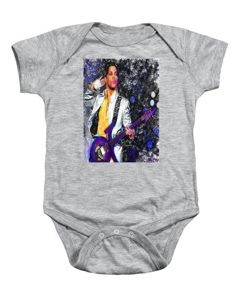 Prince - Tribute With Guitar Baby Onesie