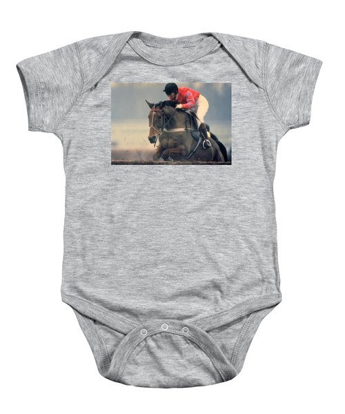 Princess Anne Riding Cnoc Na Cuille At Kempten Park Baby Onesie